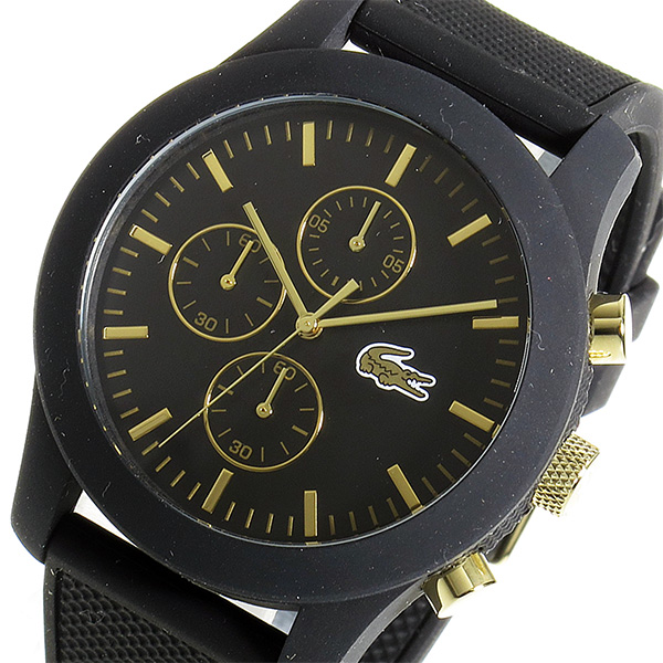 ラコステ LACOSTE クロノ クオーツ メンズ 腕時計 時計 2010826 ブラック/ゴールド