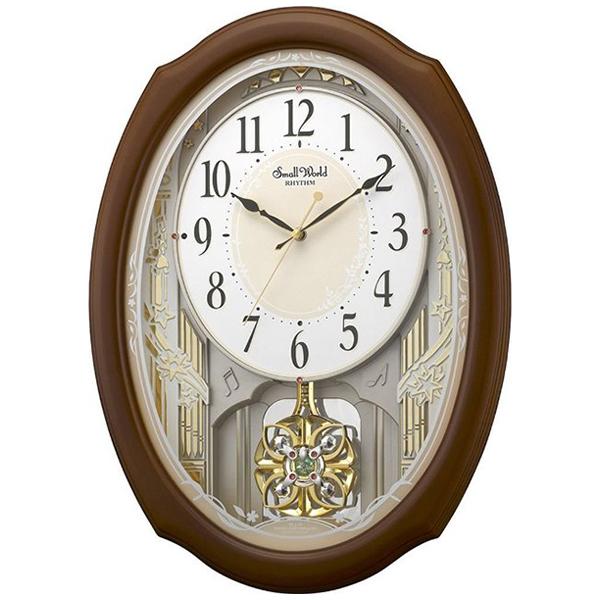 リズム RHYTHM スモールワールドセレブレ クオーツ 掛け時計 4MN541RH06 ホワイト