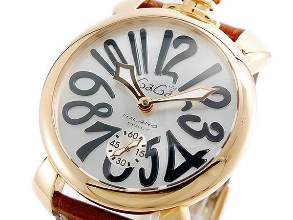 ガガミラノ GAGA MILANO MANUALE 手巻 メンズ 腕時計 5011-06S-BRW【送料無料】
