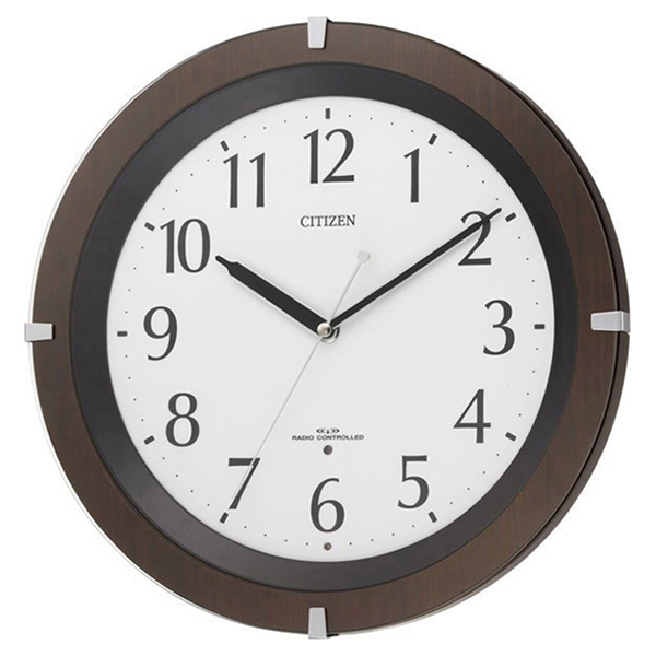シチズン CITIZEN リバライトF クオーツ 電波 掛け時計 8MY460SR06 ホワイト
