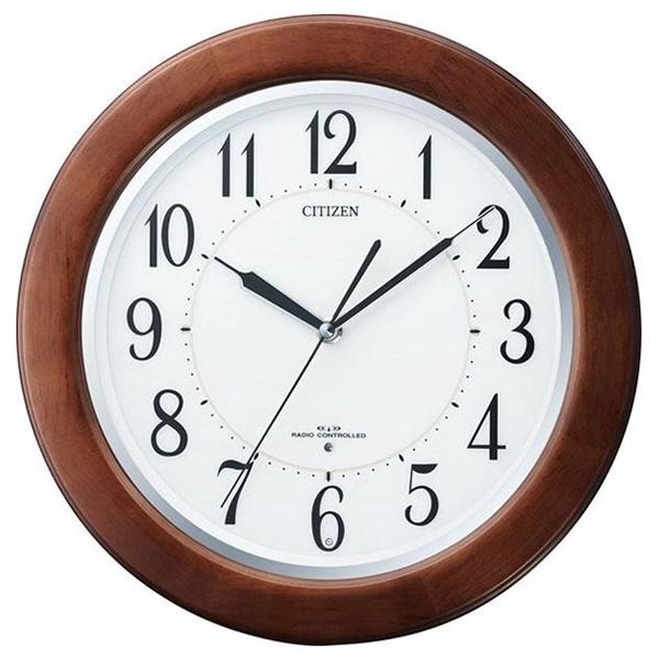 シチズン CITIZEN リバライトF クオーツ 電波 掛け時計 8MY461SR06 ホワイト