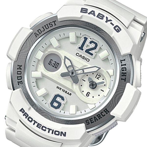 カシオ ベビーG アナデジ クオーツ レディース 腕時計 時計 BGA-210-7B4 ホワイト