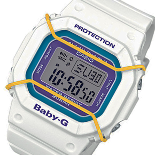 カシオ ベビーG プロテクター クオーツ レディース 腕時計 時計 BGD-501-7B ホワイト