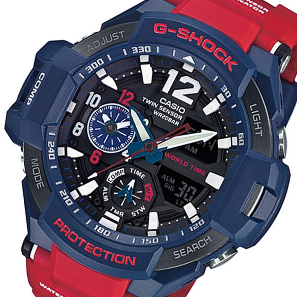 カシオ Gショック スカイコックピット クオーツ メンズ 腕時計 時計 GA-1100-2A ネイビー
