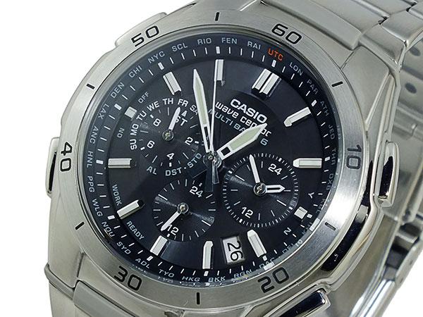 カシオ CASIO ウェーブセプター 電波 ソーラー 腕時計 時計 WVQ-M410DE-1A2JF ブラック 国内正規