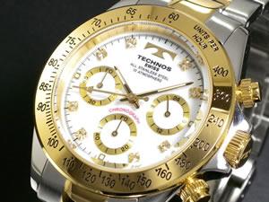 テクノス TECHNOS 腕時計 クロノグラフ TGM640TW