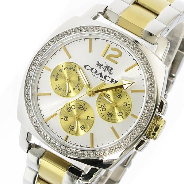 コーチ COACH クロノグラフ クオーツ レディース 腕時計 時計 14502129 シルバー