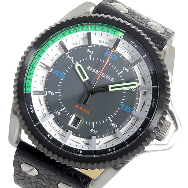ディーゼル DIESEL ロールケージ ROLLCAGE クオーツ メンズ 腕時計 時計 DZ1717 ブラック