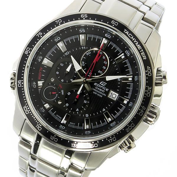 カシオ CASIO エディフィス EDIFICE クロノ クオーツ メンズ 腕時計 時計 EF-545D-1AV ブラック