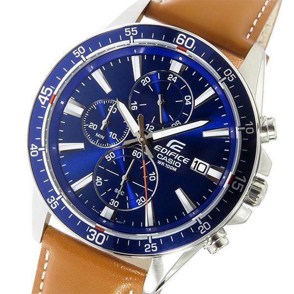 カシオ CASIO エディフィス EDIFICE クロノ クオーツ メンズ 腕時計 時計 EFR-546L-2AV ブルー