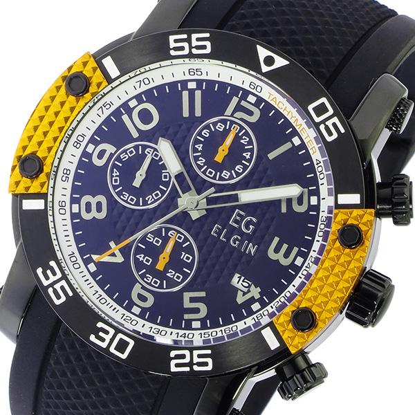 エルジン ELGIN クオーツ クロノ メンズ 腕時計 時計 EG-001-Y イエロー