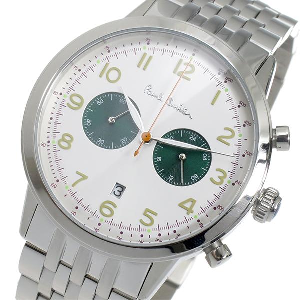 ポールスミス PAUL SMITH クロノ クオーツ メンズ 腕時計 時計 P10016 ホワイト