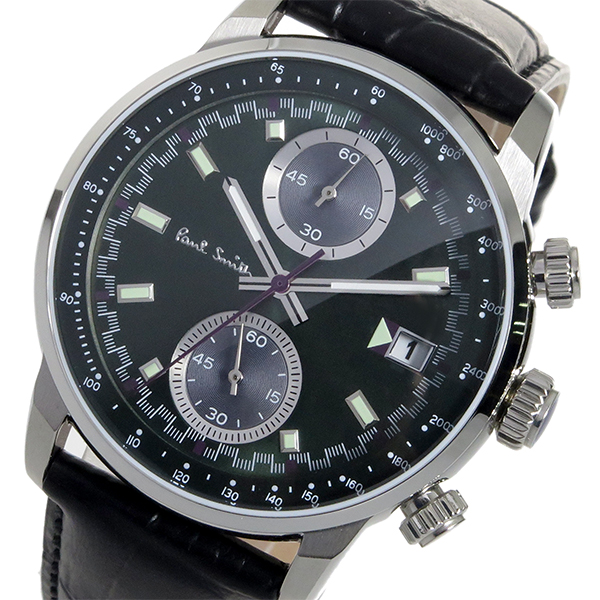 ポールスミス PAUL SMITH クロノ クオーツ メンズ 腕時計 時計 P10035 グリーン【ポイント10倍】