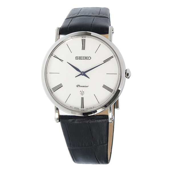 セイコー SEIKO プルミエ Premier クオーツ メンズ 腕時計 時計 SKP395P1 ホワイトgb76IYyvf