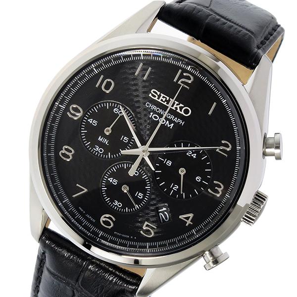 セイコー SEIKO クロノ クオーツ メンズ 腕時計 時計 SSB231P1 ブラック