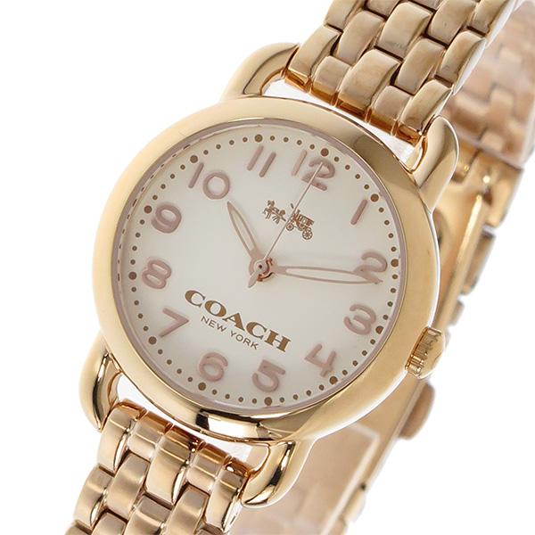 コーチ COACH デランシー DELANCEY クオーツ レディース 腕時計 時計 14502278 ホワイト/ピンクゴールド