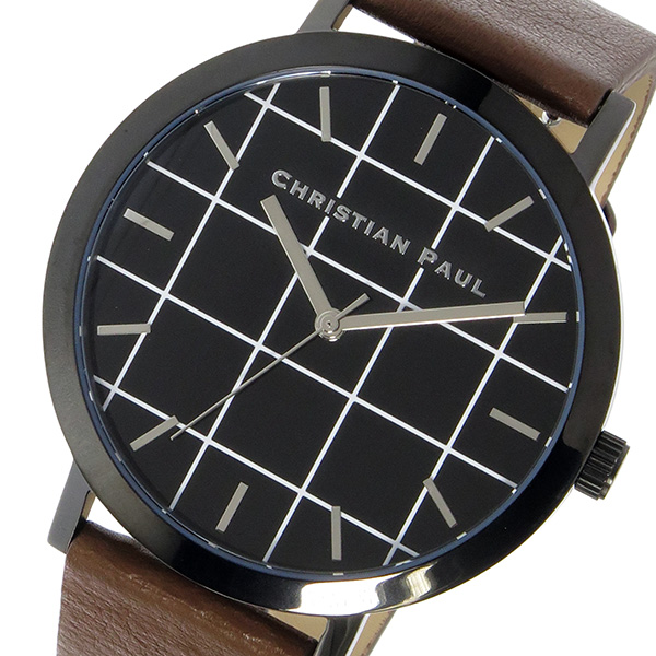 クリスチャンポール CHRISTIAN PAUL グリッド GRID BRIDPORT ユニセックス 腕時計 時計 GR-02 ブラック