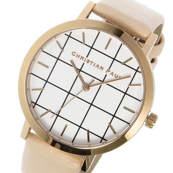 クリスチャンポール CHRISTIAN PAUL グリッド GRID BONDI レディース 腕時計 時計 GRL-02 ホワイト