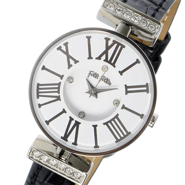 フォリフォリ FOLLI FOLLIE ミニダイナスティ クオーツ レディース 腕時計 時計 WF15A028SSW-BK ホワイト