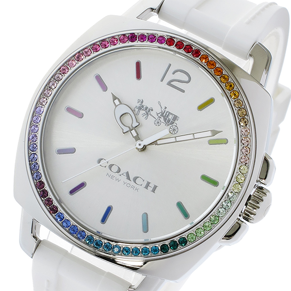コーチ COACH ボーイフレンド ラインストーンベゼル クオーツ レディース 腕時計 時計 14502528 ホワイト