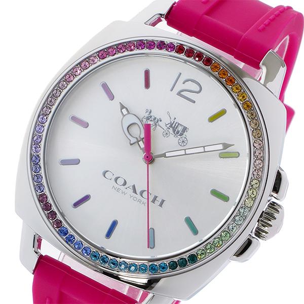 コーチ COACH ボーイフレンド ラインストーンベゼル クオーツ レディース 腕時計 時計 14502529 ピンク