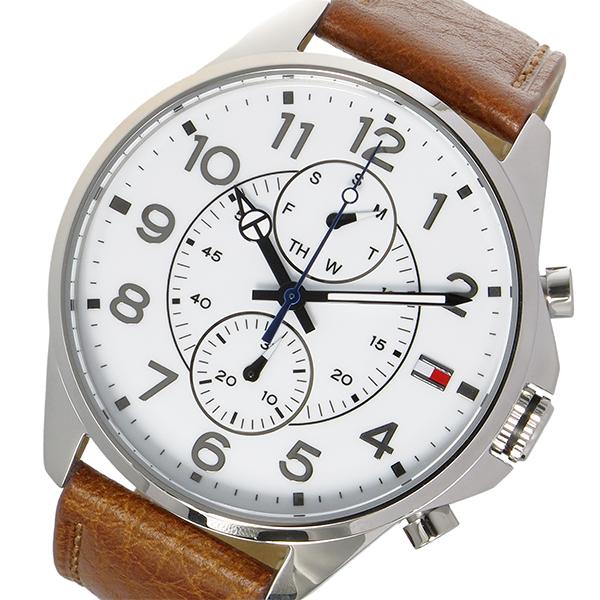 トミー ヒルフィガー TOMMY HILFIGER クオーツ メンズ 腕時計 時計 1791274 ホワイト