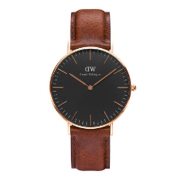 ダニエル ウェリントン クラシック ブラック セントモース/ローズ 36mm ユニセックス 腕時計 時計 DW00100136