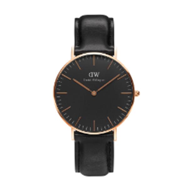 ダニエル ウェリントン クラシック ブラック シェフィールド/ローズ 36mm ユニセックス 腕時計 時計 DW00100139