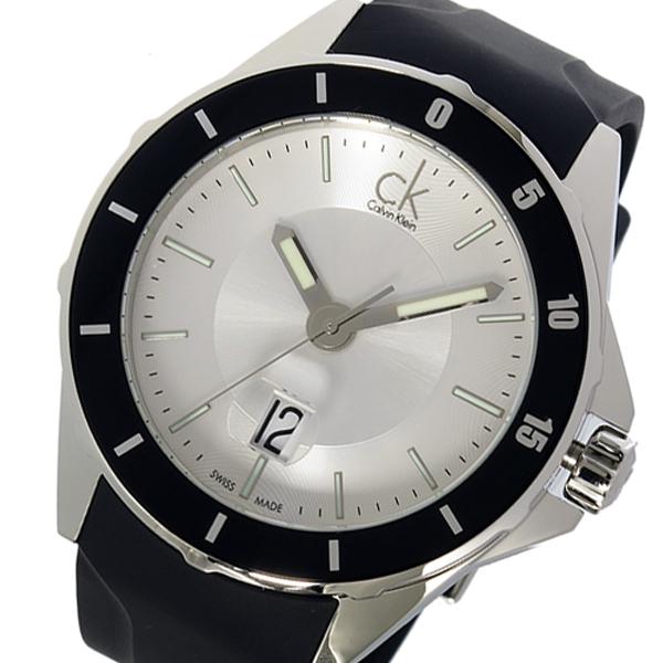 カルバンクライン Calvin Klein プレイ PLAY クオーツ メンズ 腕時計 時計 K2W21X.D6 シルバー