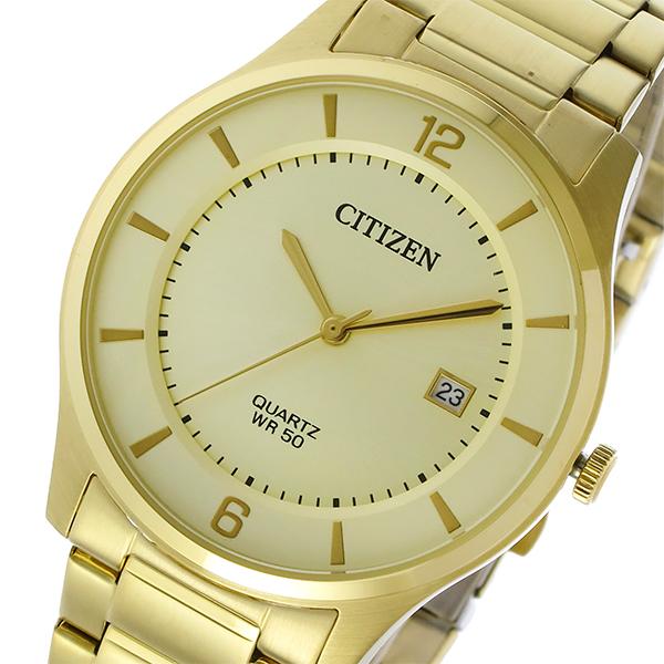 シチズン CITIZEN クオーツ メンズ 腕時計 時計 BD0043-83P シャンパンゴールド