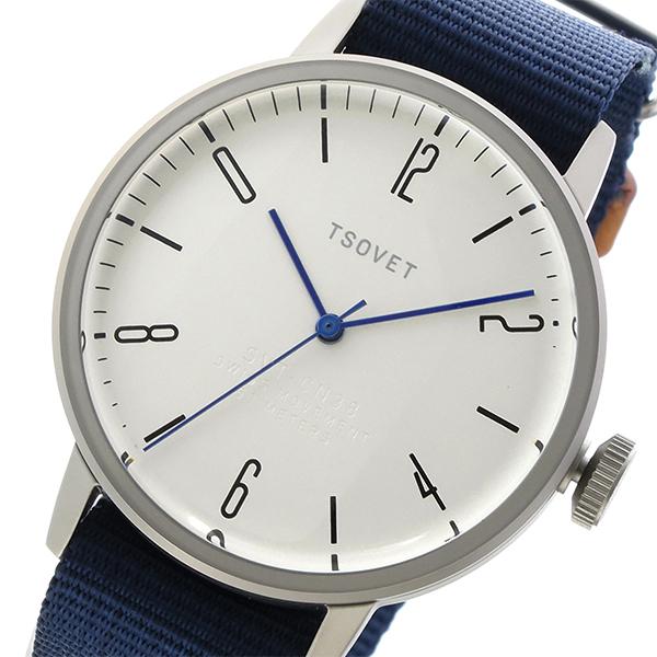 ソベット TSOVET SVT-CN38 クオーツ ユニセックス 腕時計 時計 CN110198-40 ホワイトシルバー