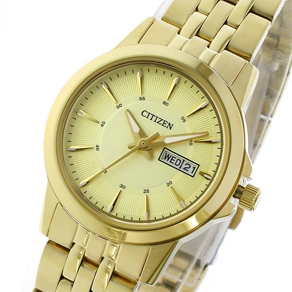 シチズン CITIZEN クオーツ レディース 腕時計 時計 EQ0603-59P シャンパンゴールド