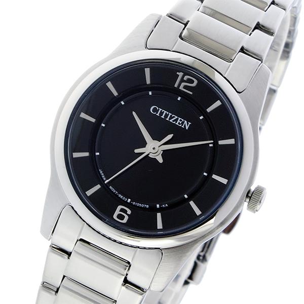 シチズン CITIZEN クオーツ レディース 腕時計 時計 ER0180-54E ブラック
