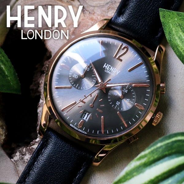 ヘンリーロンドン HENRY LONDON フィンチリー 39mm クロノ ユニセックス 腕時計 時計 HL39-CS-0122 グレー/ブラック
