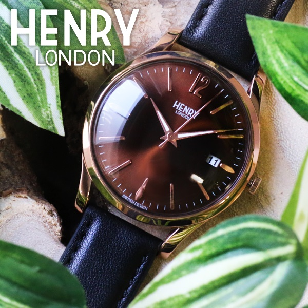ヘンリーロンドン HENRY LONDON ハーロー 39mm ユニセックス 腕時計 時計 HL39-S-0048 ブラウン/ブラック