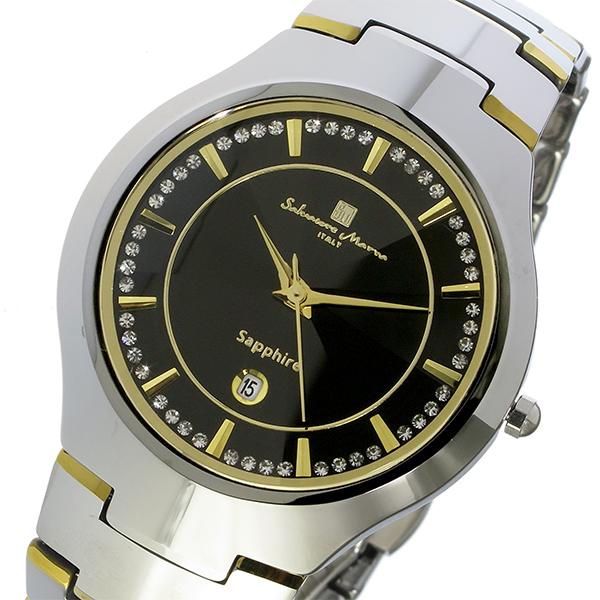 サルバトーレ マーラ SALVATORE MARRA クオーツ タングステン メンズ 腕時計 時計 SM17102-SVBK ブラック