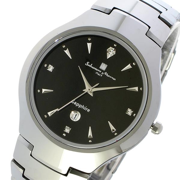 サルバトーレ マーラ SALVATORE MARRA クオーツ タングステン メンズ 腕時計 時計 SM17104-SVBK ブラック