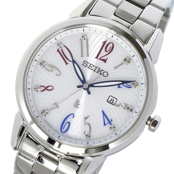 セイコー SEIKO ルキア LUKIA ソーラー クオーツ レディース 腕時計 時計 SUT295J1 ホワイト【ポイント10倍】