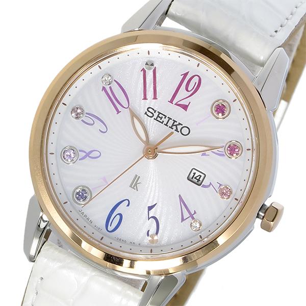 セイコー SEIKO ルキア LUKIA ソーラー クオーツ レディース 腕時計 SUT304J1 ホワイト【送料無料】