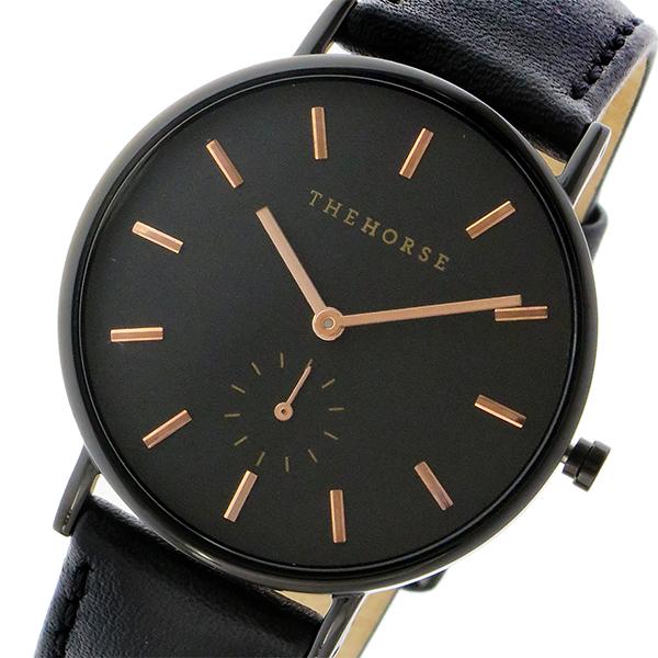 ザ ホース THE HORSE クラシック クオーツ ユニセックス 腕時計 時計 AS01-B4 ブラック/ブラック