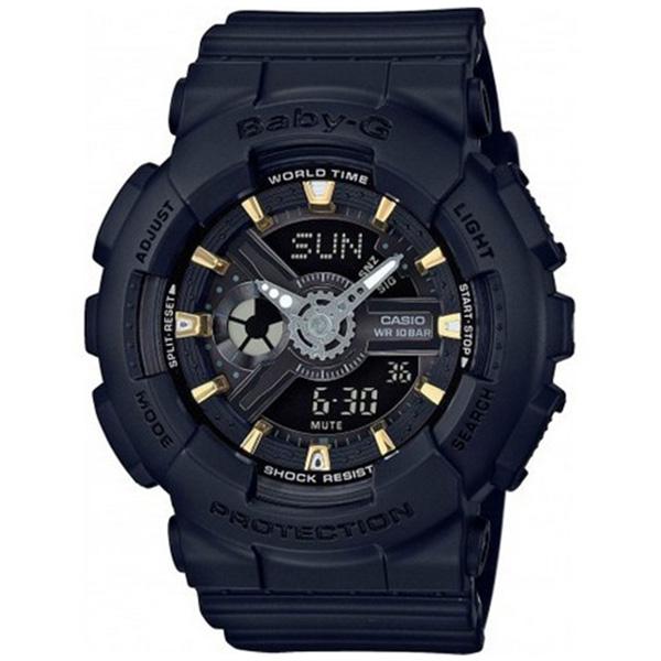 カシオ CASIO ベビーG BABY-G クオーツ レディース 腕時計 時計 BA-110GA-1A ブラック
