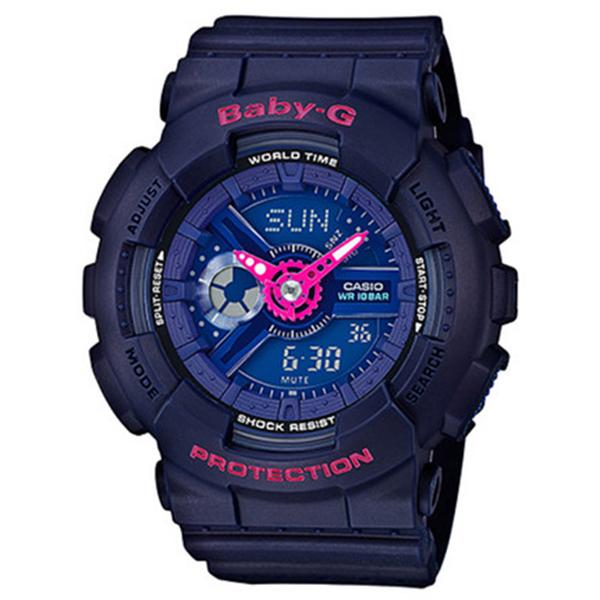 カシオ CASIO ベビーG BABY-G クオーツ レディース 腕時計 時計 BA-110PP-2A ネイビー