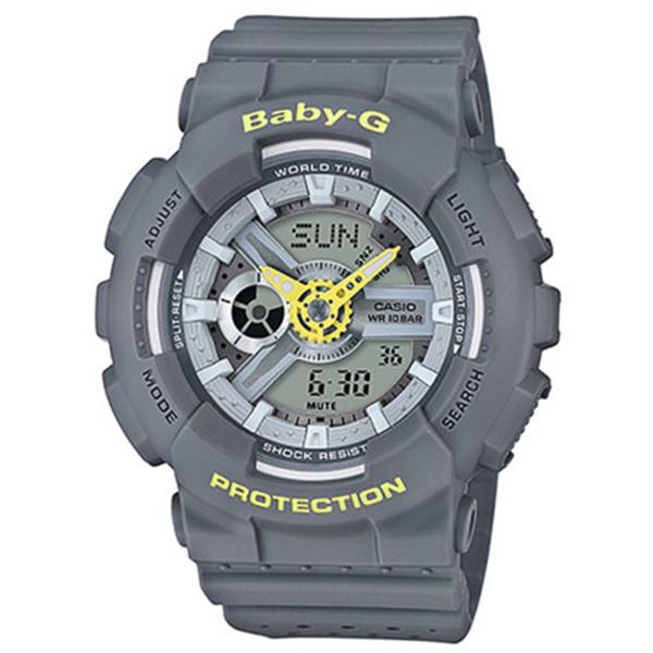カシオ CASIO ベビーG BABY-G クオーツ レディース 腕時計 時計 BA-110PP-8A グレー