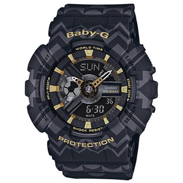 カシオ CASIO ベビーG BABY-G トライバル クオーツ レディース 腕時計 時計 BA-110TP-1A ブラックトライバル