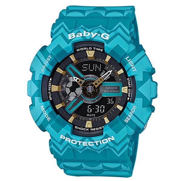 カシオ CASIO ベビーG BABY-G トライバル クオーツ レディース 腕時計 時計 BA-110TP-2A ブルートライバル