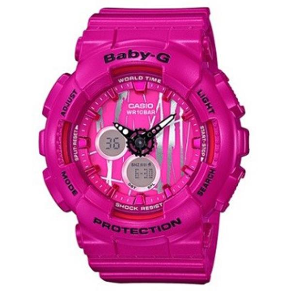 カシオ CASIO ベビーG BABY-G スクラッチパターン レディース 腕時計 時計 BA-120SP-4A ピンク/シルバー