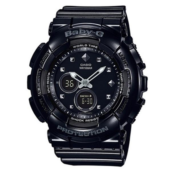 カシオ CASIO ベビーG BABY-G スタッズモチーフ クオーツ レディース 腕時計 時計 BA-125-1A ブラック