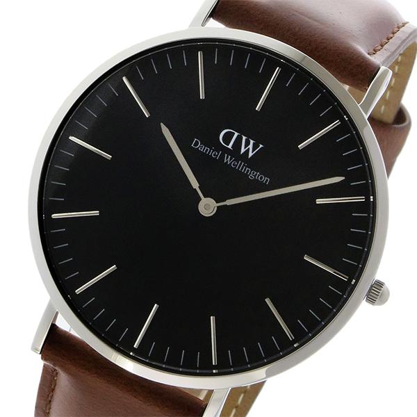 ダニエル ウェリントン クラシック ブラック セントモーズ/シルバー 40mm メンズ 腕時計 時計 DW00100130