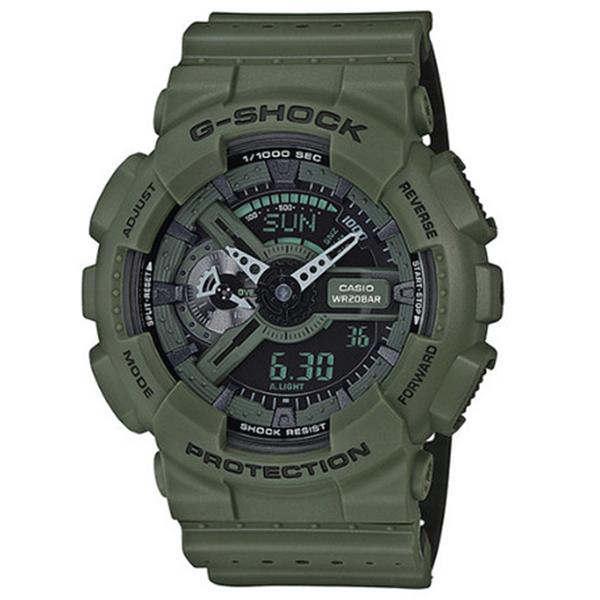 カシオ CASIO Gショック G-SHOCK パンチングパターンシリーズ メンズ 腕時計 時計 GA-110LP-3A モスグリーン