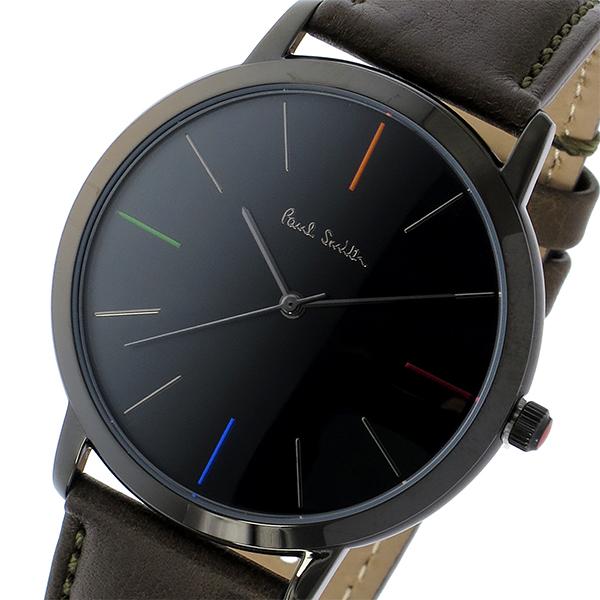 pretty nice fb201 390e6 ポールスミス PAUL SMITH エムエー MA クオーツ メンズ 腕時計 時計 P10090 ブラック【ポイント10倍】|リコメン堂